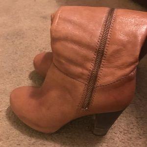 Steve Madden leather boots cognac